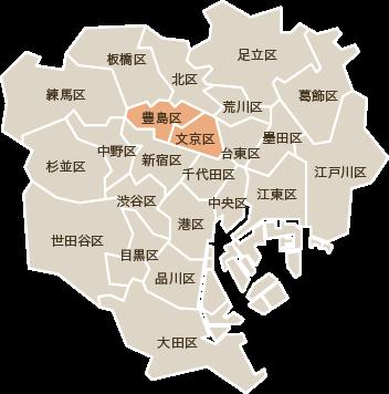 営業エリアのご案内 23区全区!!